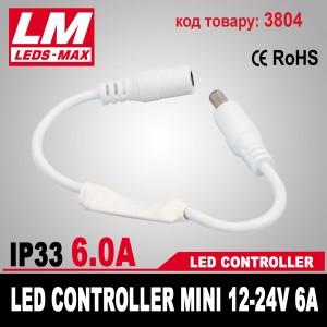 LED CONTROLLER MINI 12-24V 6A (72W; 3x2A) (код товара 3804)