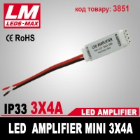 LED Amplifier mini 3x4A (код товара 3851)