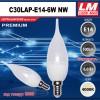 Светодиодная лампочка C30LAP-E14-6W NW (код товара 6060)