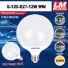 Светодиодная лампочка G120-E27-12W WW (код товара 6076)