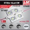 Светодиодный модуль 5730XP 4Led CW (IP68; 2.0W; 190 Lm; 6000K) (код товара 1530)