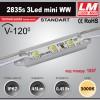 Светодиодный модуль 2835s 3LED mini WW (код товара 1057)
