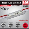 Светодиодный модуль 2835s 3LED mini RED (код товара 1060)
