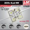 Светодиодный модуль 2835s 4LED NW (код товара 1072)