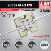 Светодиодный модуль 2835s 4LED CW (код товара 1073)