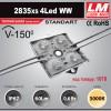 Светодиодный модуль 2835xs 4LED WW (код товара 1078)