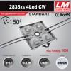 Светодиодный модуль 2835xs 4LED CW (код товара 1080)