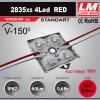 Светодиодный модуль 2835xs 4LED RED (код товара 1081)