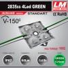 Светодиодный модуль 2835xs 4LED GREEN (код товара 1082)