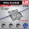 Светодиодный модуль 2835xs 4LED BLUE (код товара 1084)