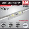 Светодиодный модуль 3528s 2Led mini CW (код товара 1002)