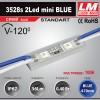 Светодиодный модуль 3528s 2Led mini BLUE (код товара 1006)