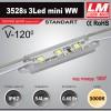 Светодиодный модуль 3528s 3Led mini WW (код товара 1007)