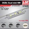 Светодиодный модуль 3528s 3Led mini NW (код товара 1008)