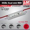 Светодиодный модуль 3528s 3Led mini RED (код товара 1010)