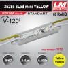 Светодиодный модуль 3528s 3Led mini YELLOW (код товара 1012)