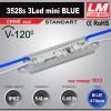 Светодиодный модуль 3528s 3Led mini BLUE (код товара 1013)