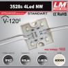 Светодиодный модуль 3528s 4Led NW (код товара 1022)