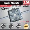 Светодиодный модуль 3528ms 4Led WW (код товара 1028)
