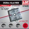 Светодиодный модуль 3528ms 4Led RED (код товара 1031)