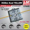 Светодиодный модуль 3528ms 4Led YELLOW (код товара 1033)