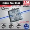 Светодиодный модуль 3528ms 4Led BLUE (код товара 1034)