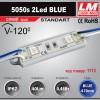 Светодиодный модуль 5050s 2Led BLUE (IP67; 0.48W; 40Lm; Голубой) (код товара 1113)