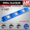 Светодиодный модуль 5050GS 3Led BLUE (IP67; 0.75W; 70Lm; Голубой) (код товара 1134)