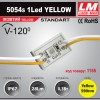 Светодиодный модуль 5054s 1Led YELLOW (IP67; 0.3W, 28 Lm; Желтый) (код товара 1155)
