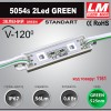 Светодиодный модуль 5054s 2Led GREEN (IP67; 0.6W; 56Lm; Зеленый) (код товара 1161)
