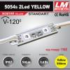 Светодиодный модуль 5054s 2Led YELLOW (IP67; 0.6W; 56Lm; Желтый) (код товара 1162)
