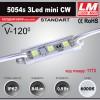 Светодиодный модуль 5054s 3Led mini CW (IP67; 0.9W; 84Lm; 6000K) (код товара 1173)