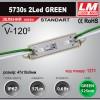 Светодиодный модуль 5730s 2Led GREEN (IP67; 0.6W; 57Lm; Зеленый) (код товара 1211)